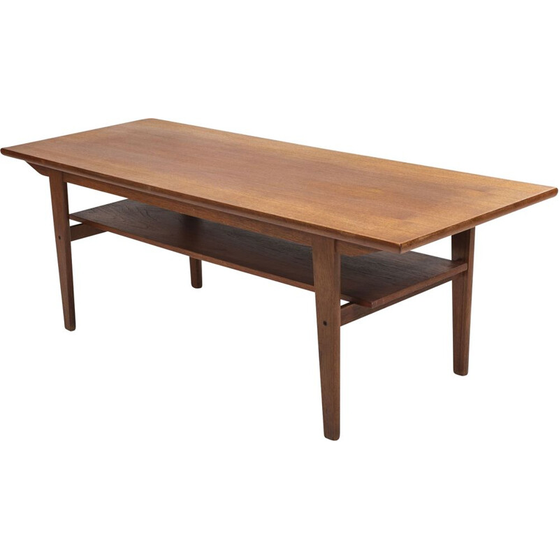 Vintage Teak Coffee Table, Danish 1960s