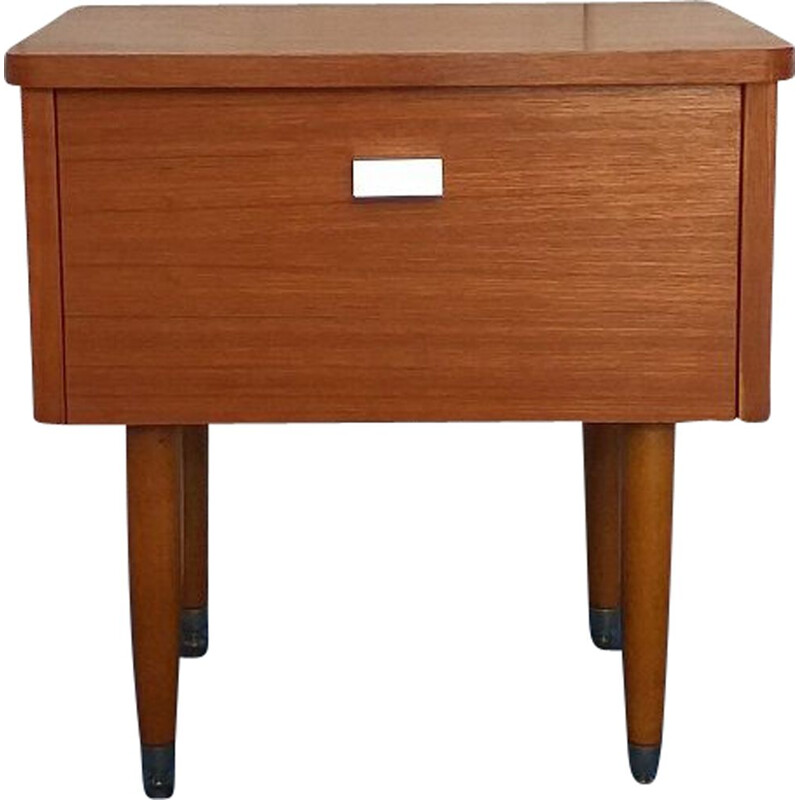 Vintage scandinavian teak bedside table 1960
