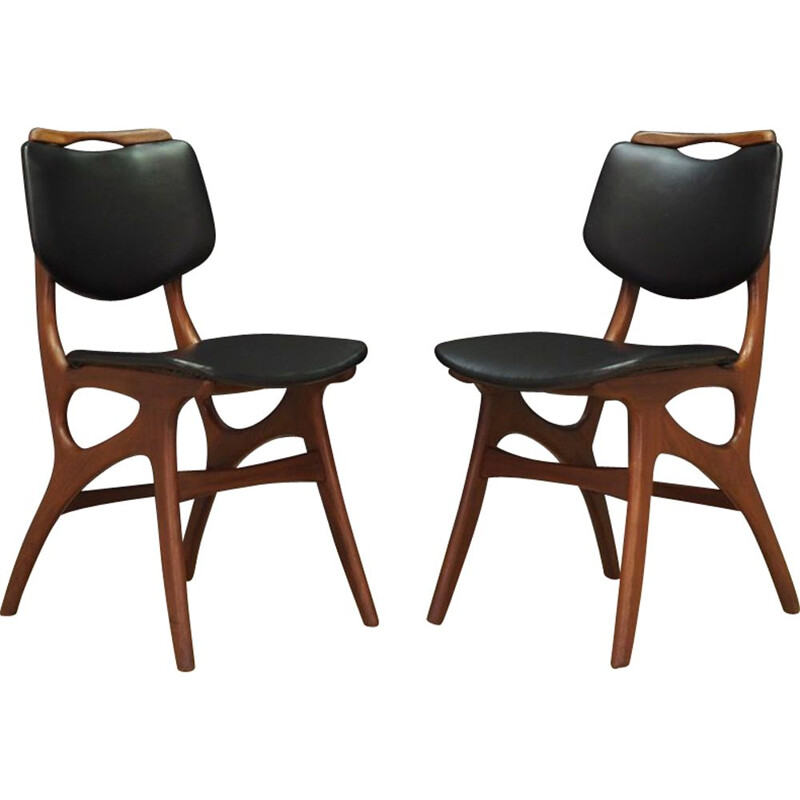 Pair of vintage punock chairs teak 1970