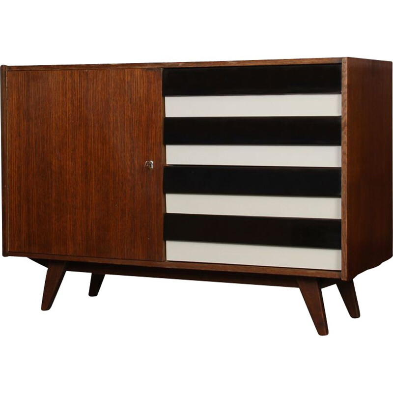 Vintage oak chest of drawers by Jiri Jiroutek, 1960