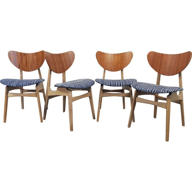 Set of 4 Vintage Dining Chairs,G-Plan Butterfly  1950s
