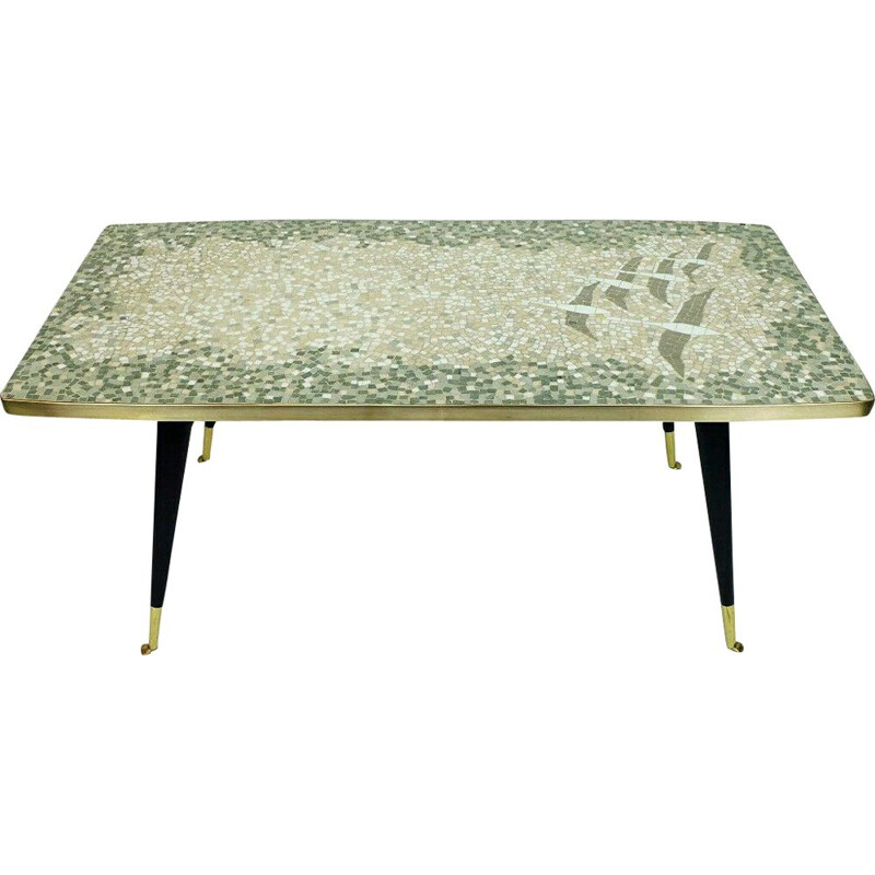 Mid century coffeetable mueller-oerlinghausen mosaic table 1950s