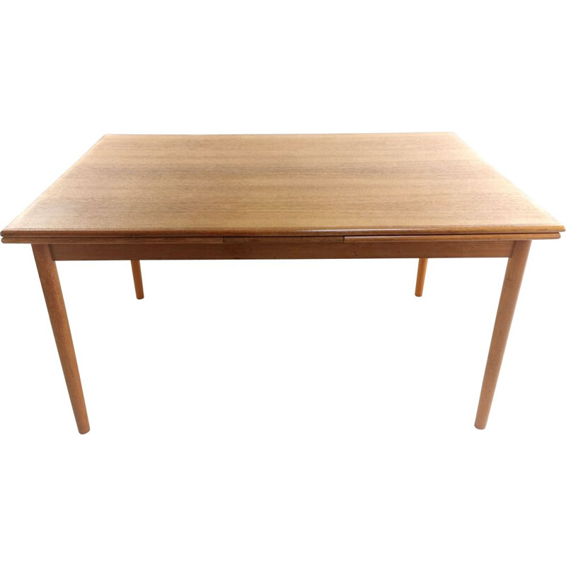 Teak Extending Dining Table Mid Century Danish 1970