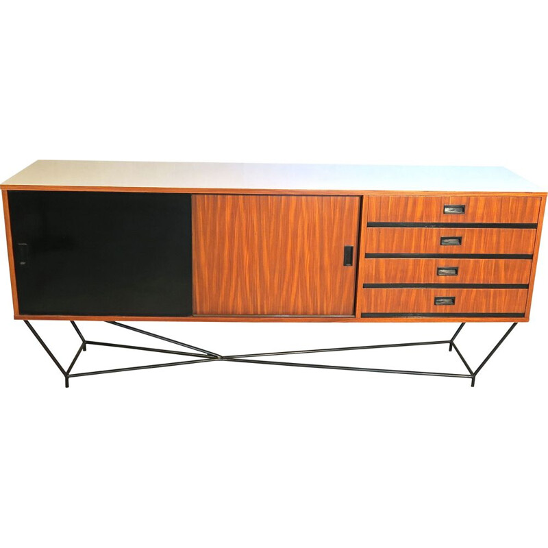 Vintage mahogany and lacquer 1950s sideboard