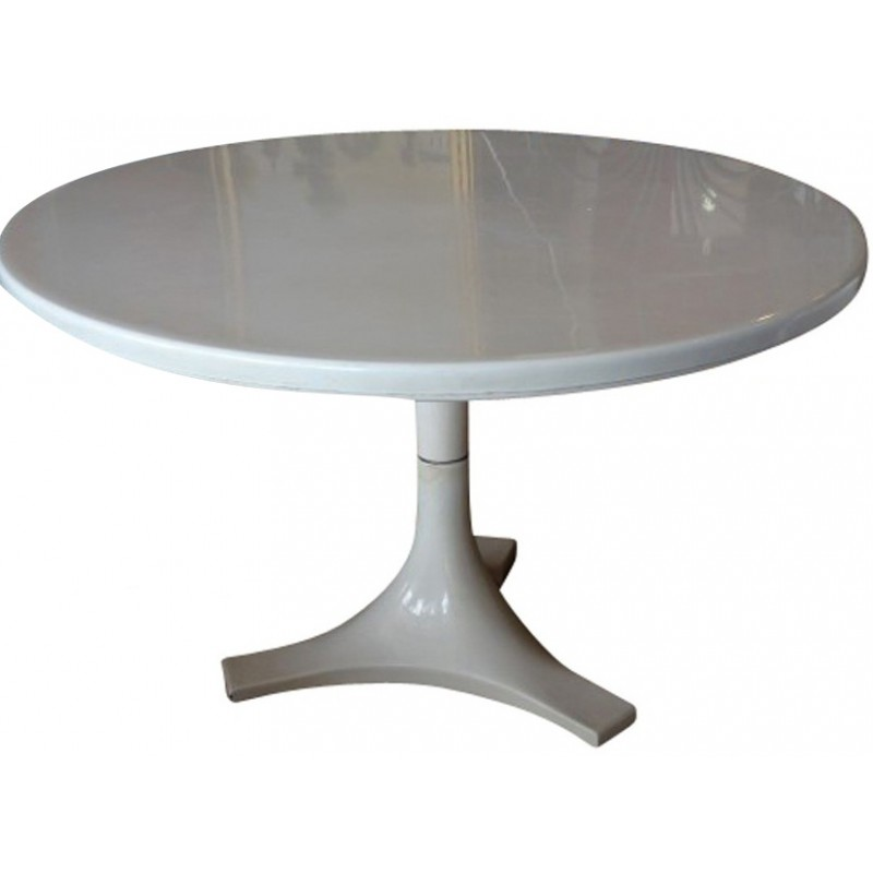 Kartell Round Table In Fiber Glass And Metal, Anna CASTELLI FERRIERI   1960s