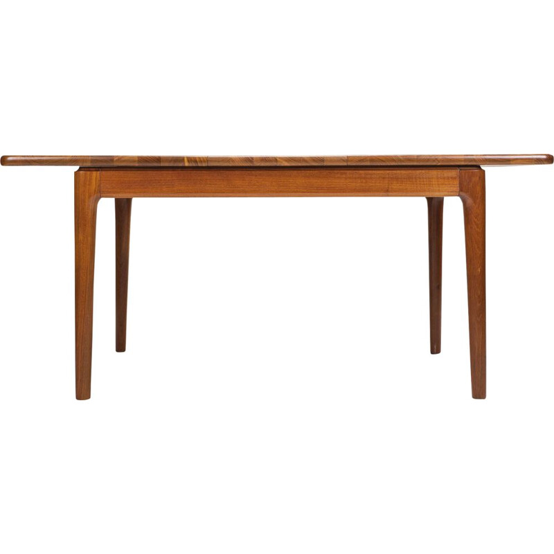 Vintage teak massif folding dining table from Glostrup 1970