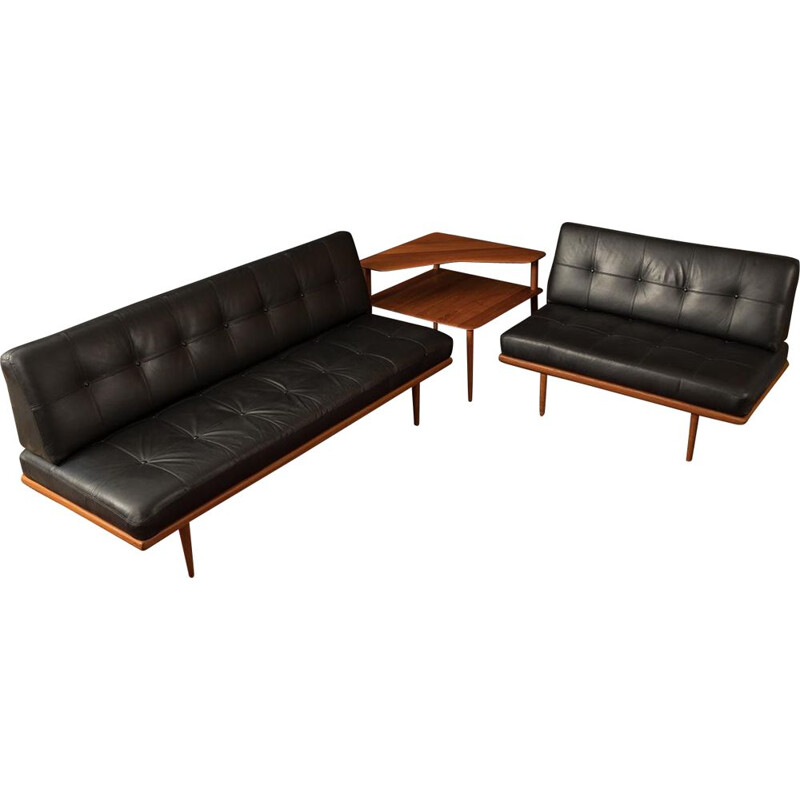 Vintage Minerva sofa combination with matching coffee table by Peter Hvidt & Orla Mølgaard-Nielsen from the 1960s