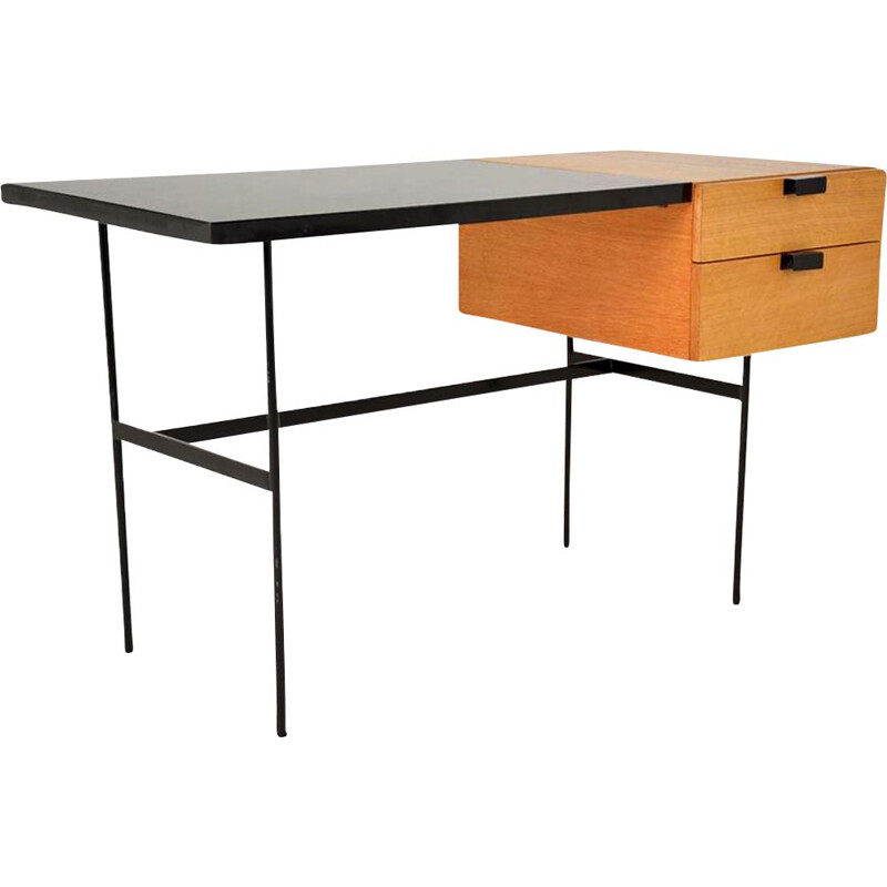 "Vintage desk ""CM 141"" by French Pierre Paulin 1950"