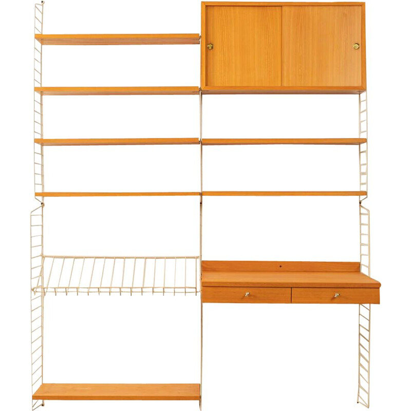 Vintage String wall unit metal  by Nils Strinning 1949