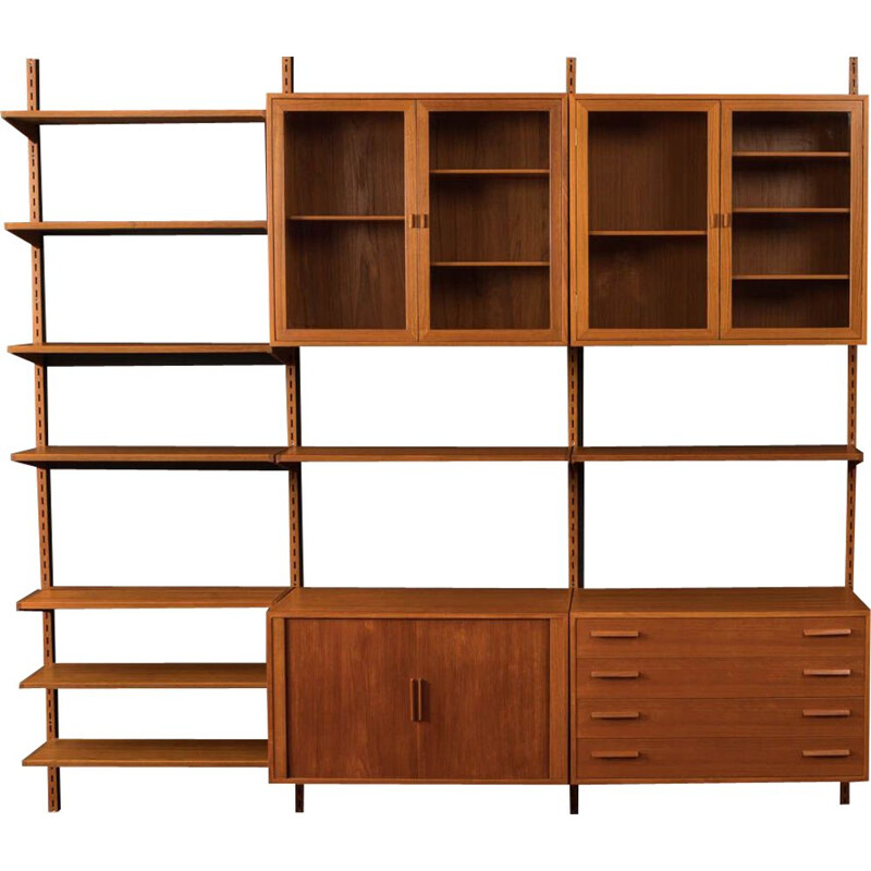 Vintage wall unit teak  by Kai Kristiansen for FM Møbler 1960s