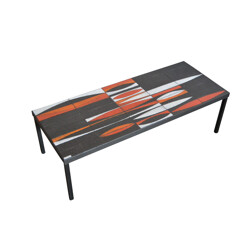 """Coffee table """"shuttle"""" Roger Capron - 1960s"""