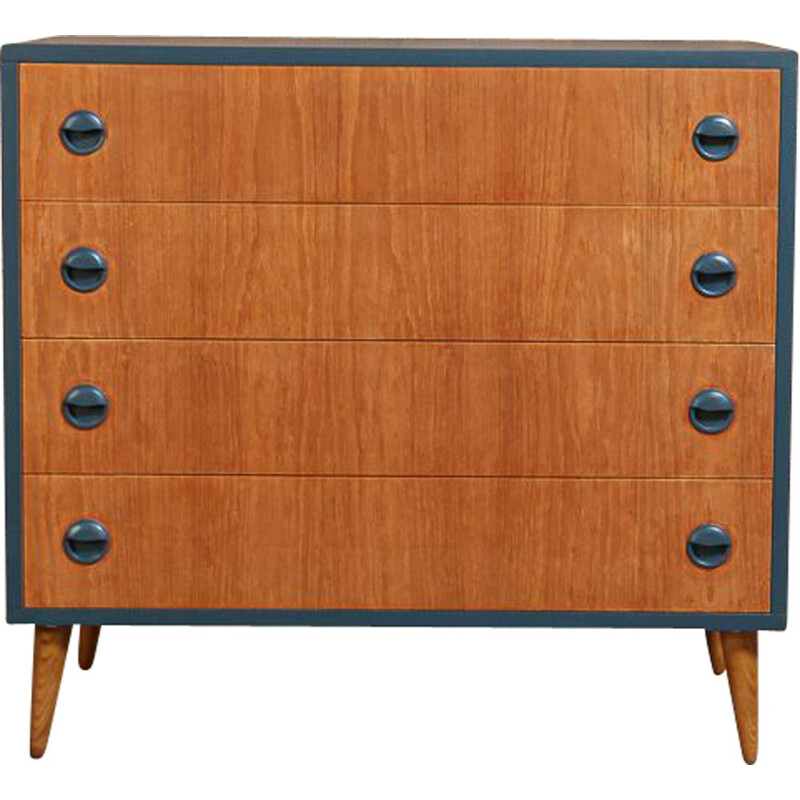 Vintage midnight blue revamped dresser with 4 drawers