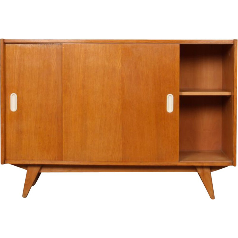 Vintage oak chest by Jiri Jiroutek for Interier Praha, 1960
