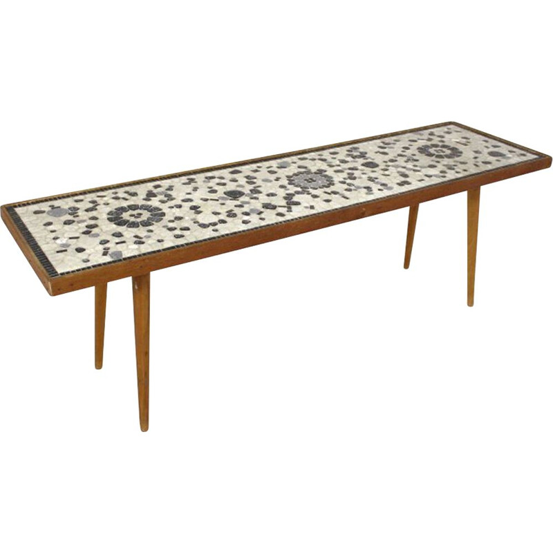 Vintage mosaic coffee table, Sweden, 1950