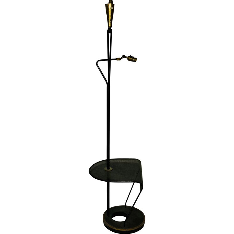 Vintage metal floor lamp with double bulb