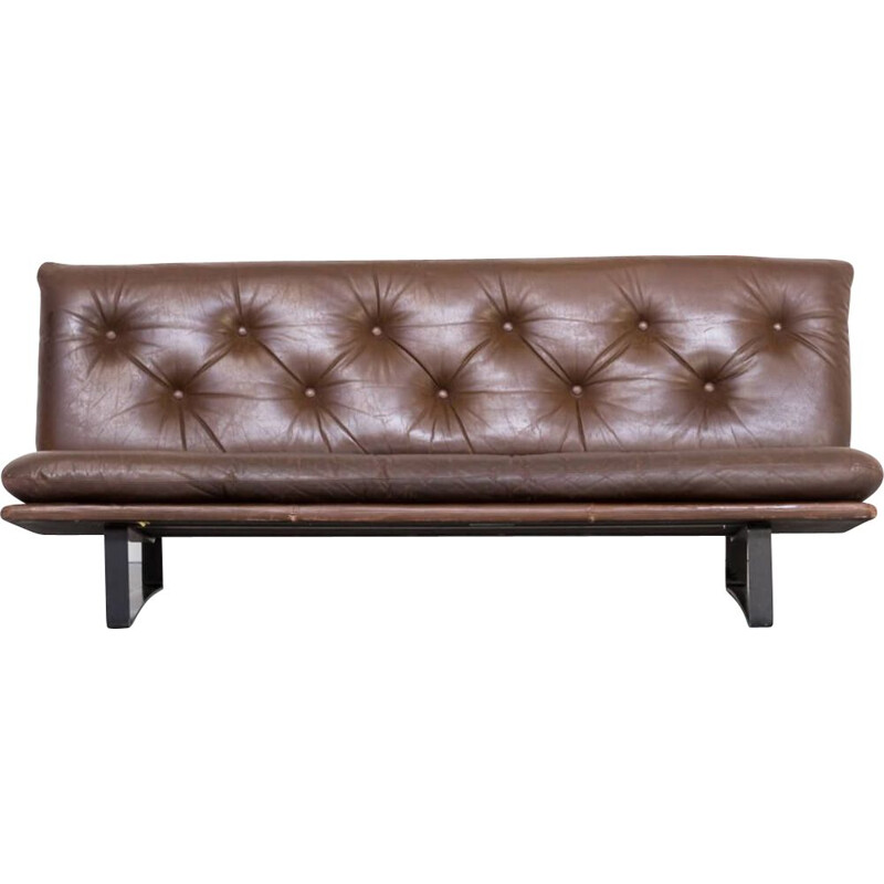 Vintage 3 seat sofa C684 leather  for Artifort by Kho Liang Ie 1960s