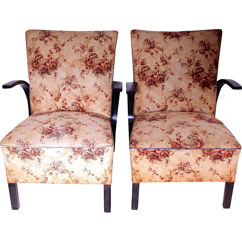 Pair of vintage armchairs,Czechoslovakia 1960s