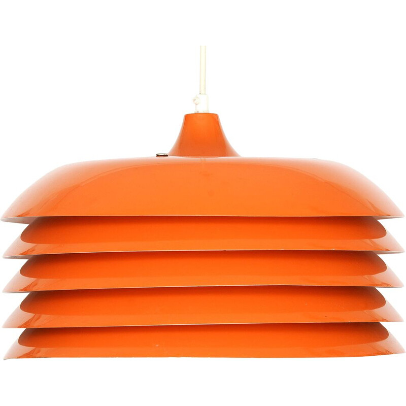 Vintage Orange pendant light T 742 by Hans-Agne Jakobsson for H-A Jakobsson AB, Markaryd. Sweden 1960s