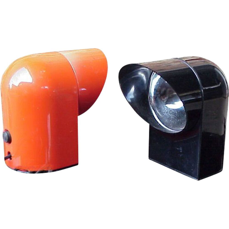 Pair of Vintage desk lamp Lumen form Oliver by Paolo Piva 1960