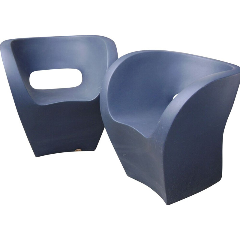 Pair of vintage little albert armchair by Ron Arad Moroso Italy 2000