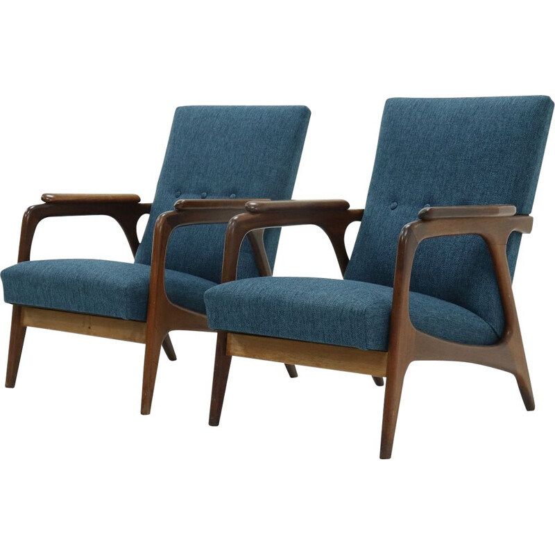 Pair of vintage Teak Armchairs by Topform 1960s