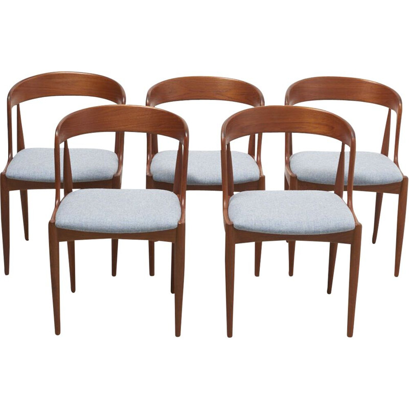 Set of 4 Vintage Dining Chairs by Johannes Andersen for Uldum Moblerfabrik, Denmark 1950s