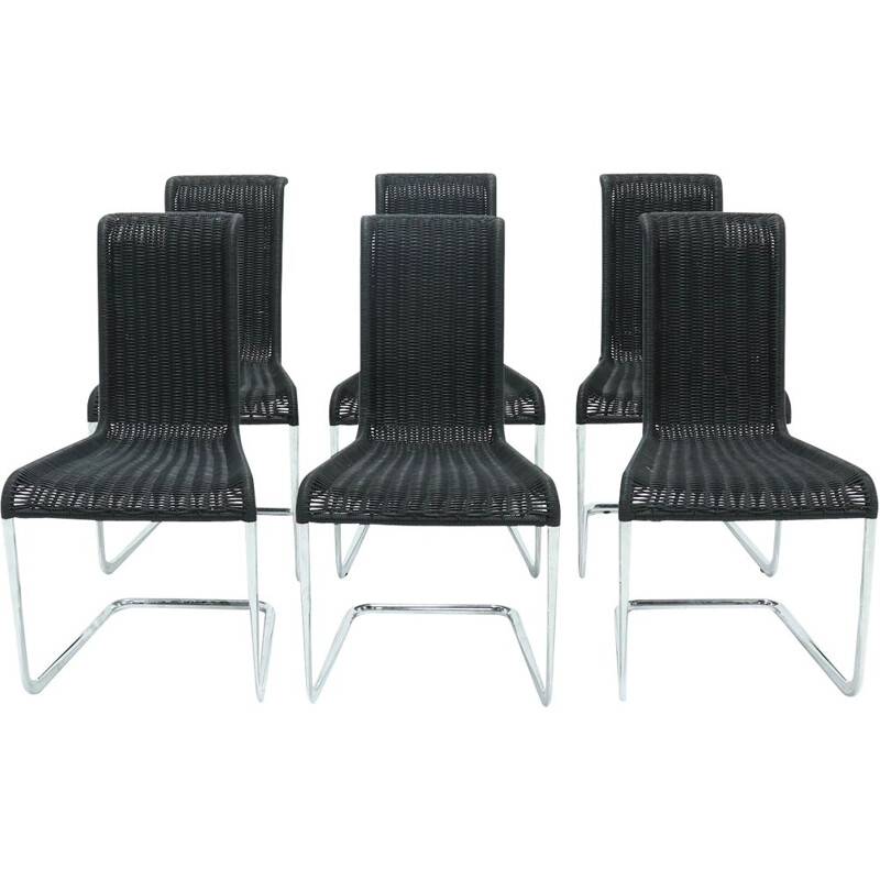 Set of 6 vintage dining chairs B20 by Axel Bruchhäuser for Tecta, 1980s