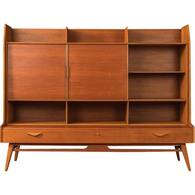 Vintage highboard teak Scandinavian  1950s