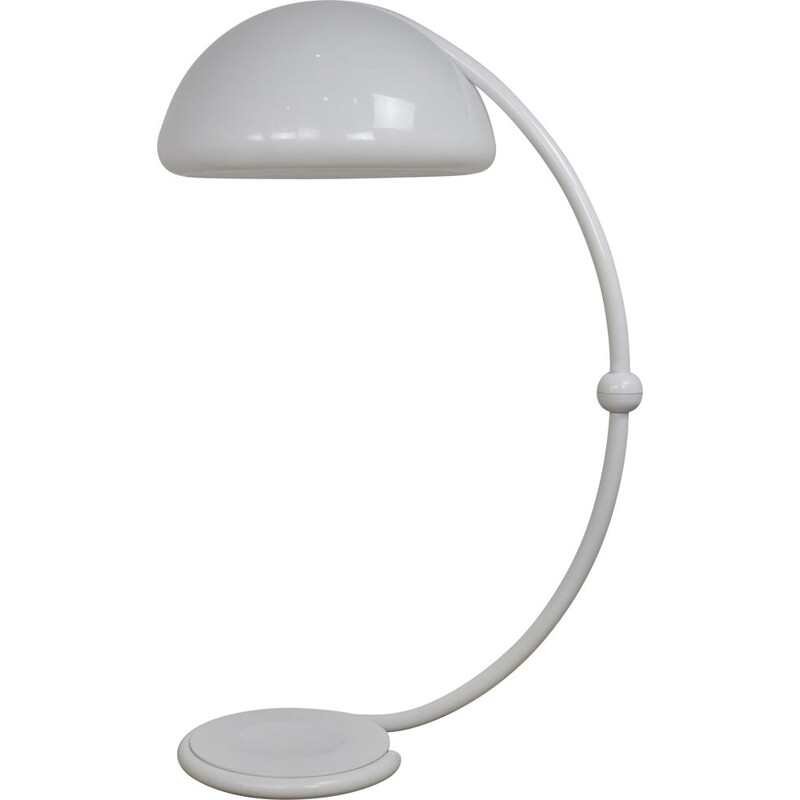 Vintage White Serpente Floor Lamp by Elio Martinelli for Martinelli Luce, 1960s
