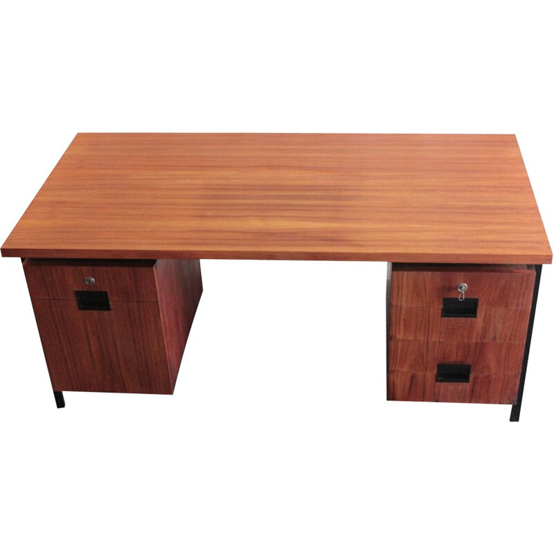Vintage teak desk by Cees Braakman by Pastoe, Netherlands 1950