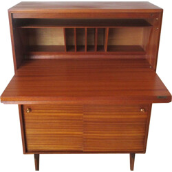 Mid-century B&T secretary in teak and mahogany - 1960s