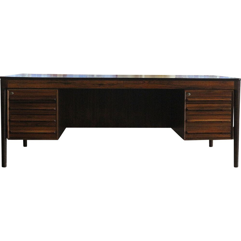 Mid Century Rosewood Desk by T. Afdal, Norway 1970