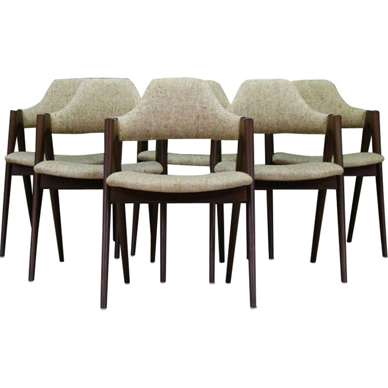 Set of 4 vintage chairs Designed by Kai Kristiansen by Fritz Hansenfrom 1970