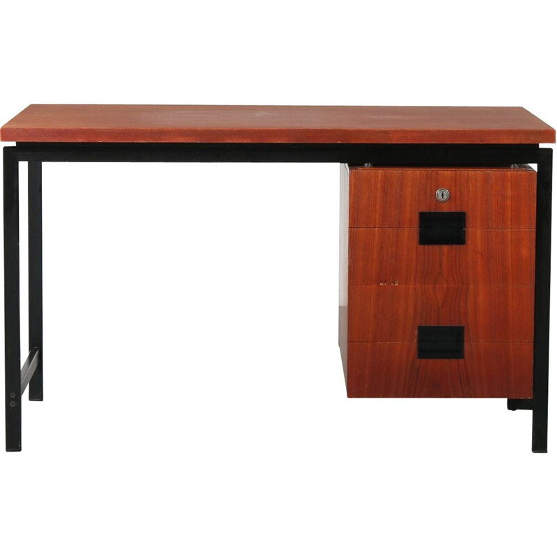 Vintage Japanese series desk by Cees Braakman for Pastoe, Netherlands 1950s