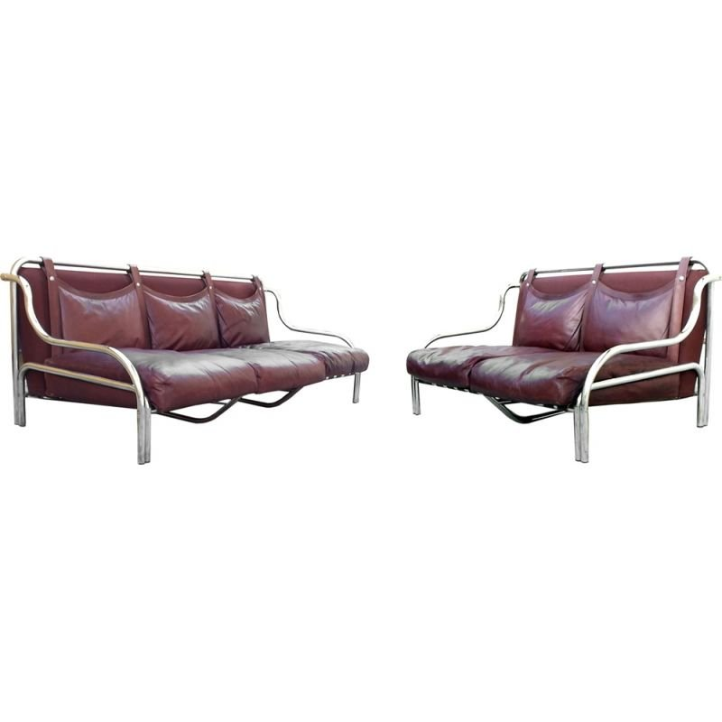 Pair of vintage sofas by Gae Aulenti Italy 1965