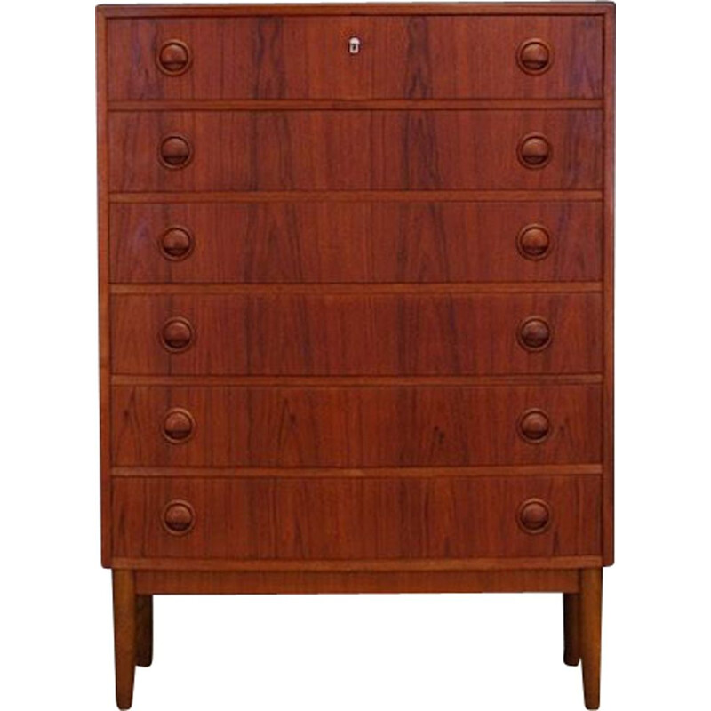 Vintage teak chest of drawers by Kai Kristiansen, 1960