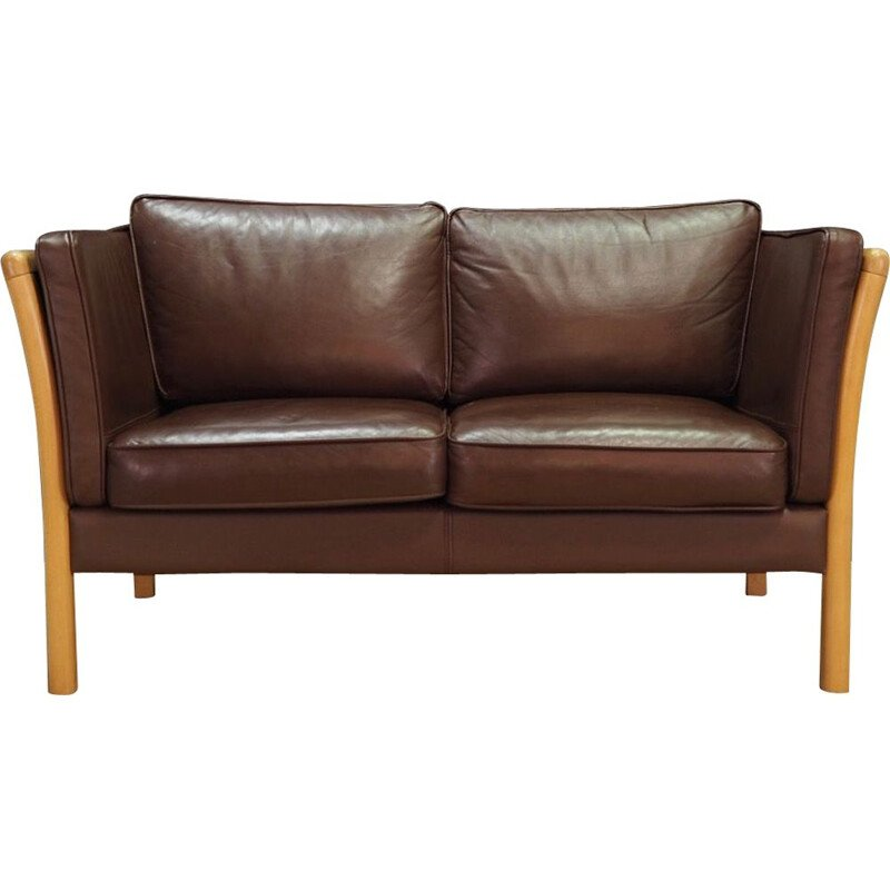 Vintage Leather sofa by Stouby, 1970s