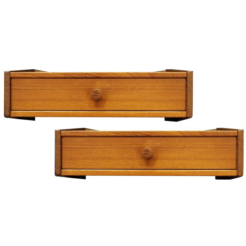 Pair  of  vintage teak hanging drawers by Ølhom MØbelfabrik, Denmark, 1960