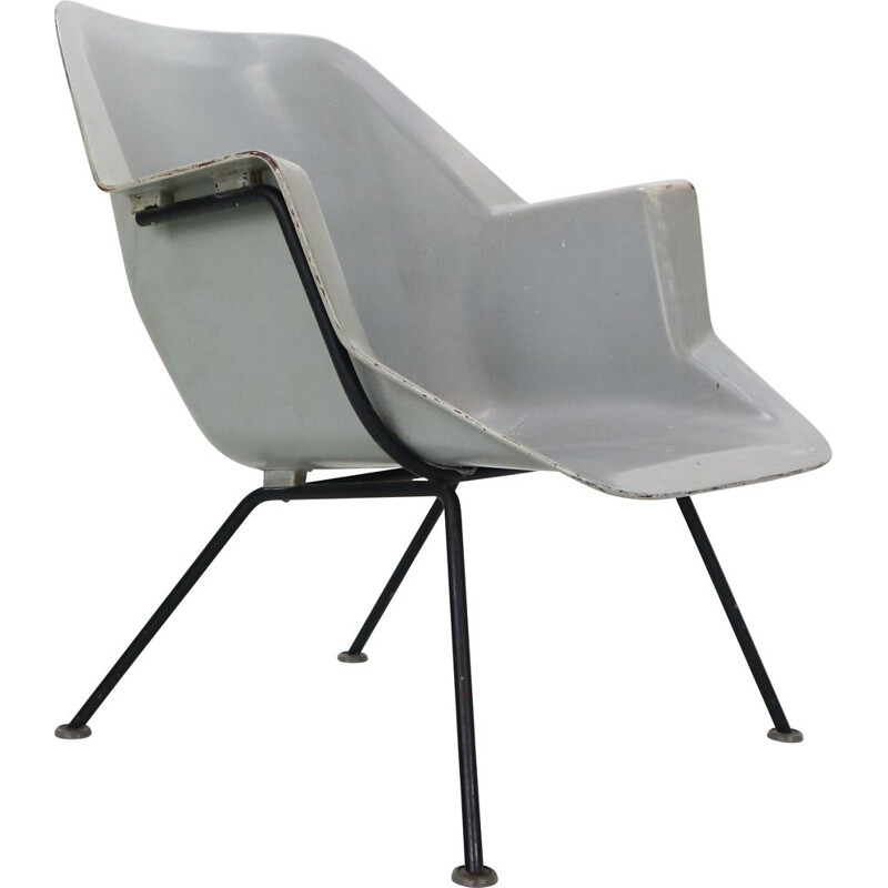 Vintage 416 Fiberglass Shell Chair by Wim Rietveld & Andre Cordemeyer for Gispen, 1950s