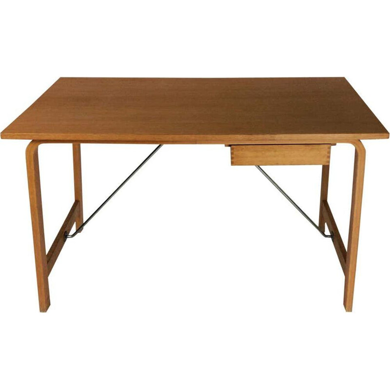 Vintage Desk in Oak by Fritz Hansen Arne Jacobsen Saint Catherines Danish 1965