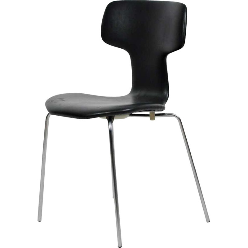 Vintage T-Chair  Hammer Chair by Fritz Hansen Arne Jacobsen Danish 1960s