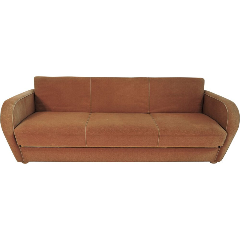 Vintage Model H363 Sofa by Jindřich Halabala, Art Deco 1930