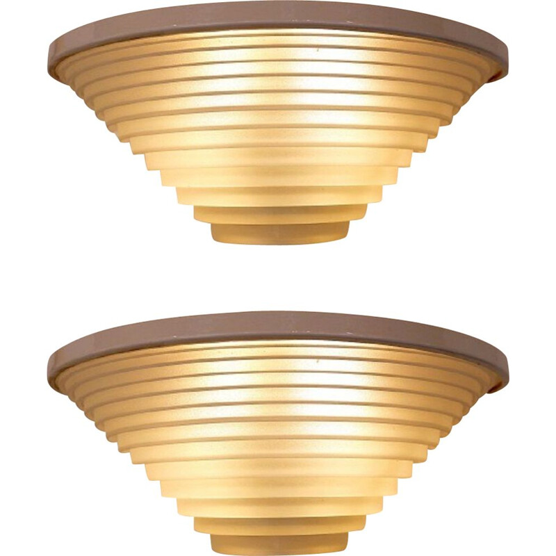 Pair of Egisto Vintage Wall Sconces By Angelo Mangiarotti For Artemide Postmodern 1980