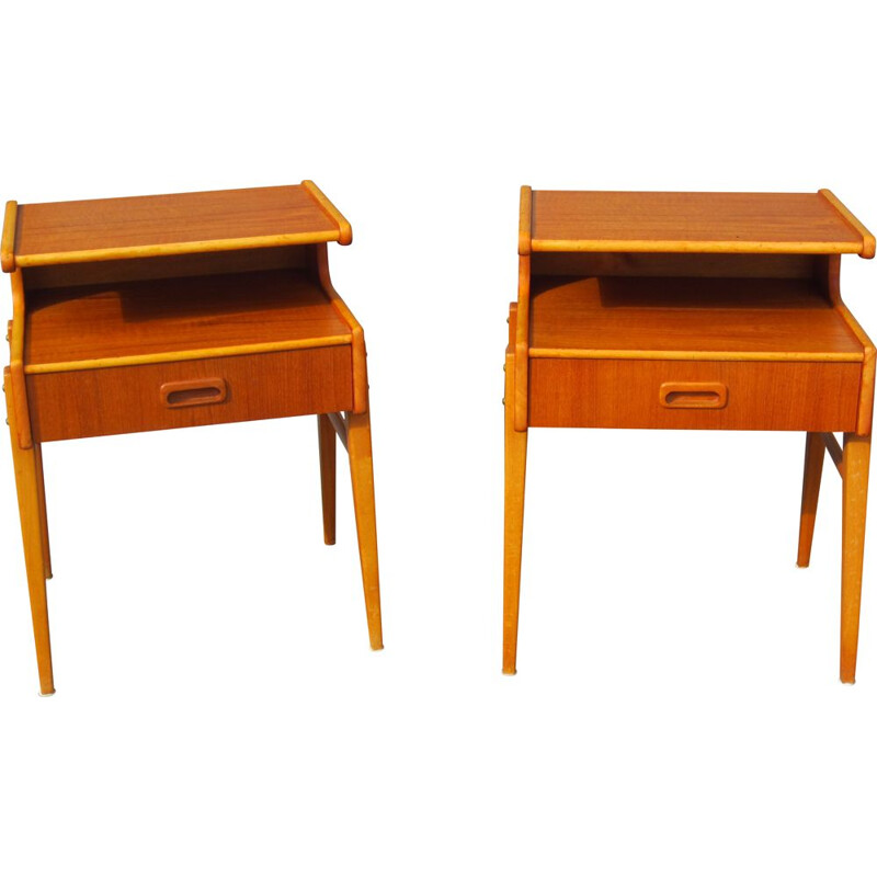 Pair of vintage Scandinavian bedside tables