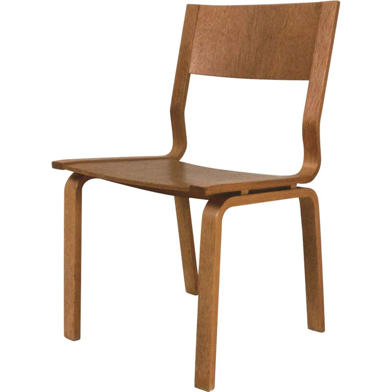Vintage Saint Catherines Chair in Laminated Oak by Fritz Hansen Arne Jacobsen 1965