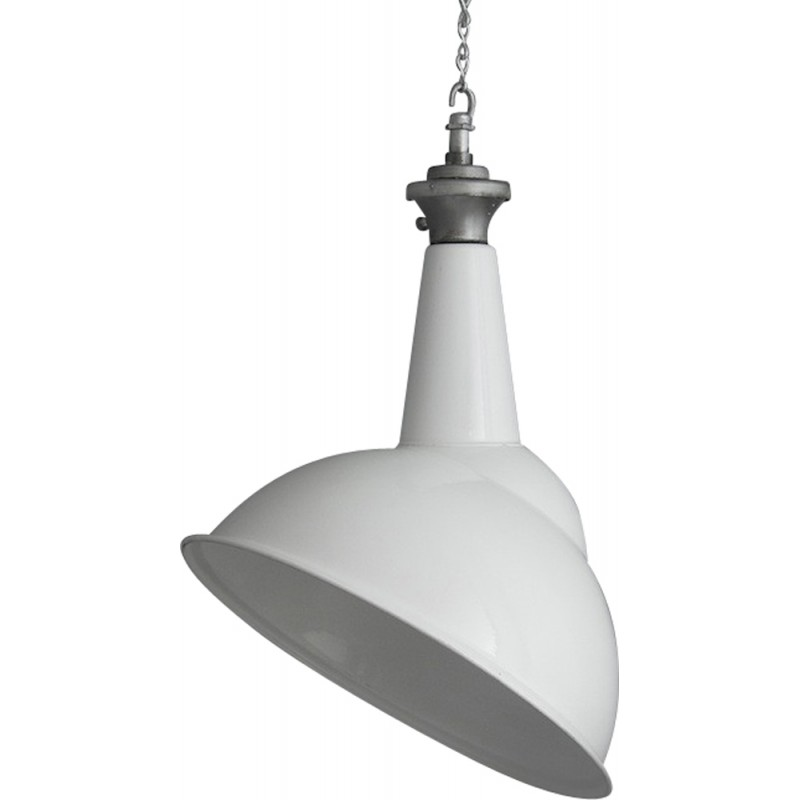 Power Station pendant lighting in white lacquered steel - 1960s