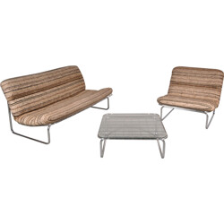 Artifort living set in chromed metal and fabric, Kho LIANG IE - 1970s