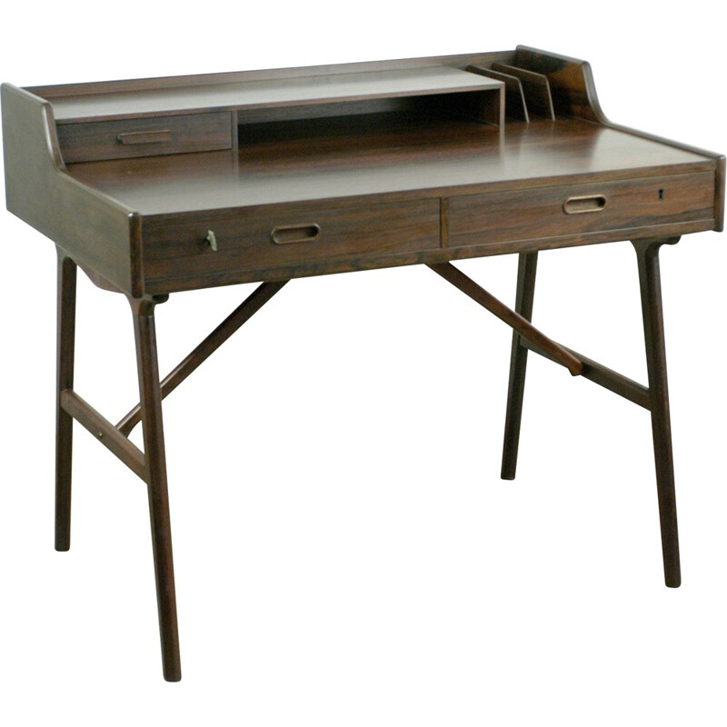 Scandinavian Modern writing desk in rosewood, Arne Wahl IVERSEN - 1960s