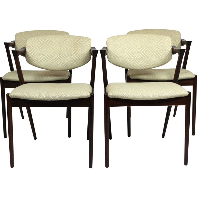 Vintage set of 4 dining chairs Kai Kristiansen  1960s