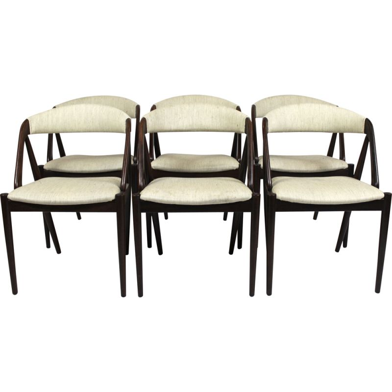 Vintage set of 6 dining chairs  Kai Kristiansen Schou Andersen1960s